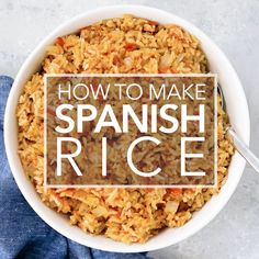 Spanish rice Mexican rice is so easy to make This is my mother s signature recipe perfect with steak chicken and Mexican food like tacos or enchiladas On sidedish mexican rice ricepilaf Chili Relleno, Tostadas, Enchiladas, Chorizo, Rice Recipes For Dinner, Simply Recipes, Evening Meals, Spanish Rice Recipe Vegetarian, Recipe For Spanish Rice