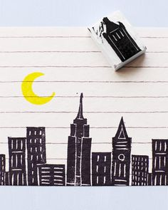Lova's World: Printmaking & Stamping with Erasers
