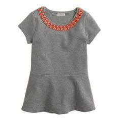 Another sweatshirt dress this one with embellishments