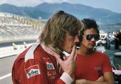 """""""They were ridiculous times. After I won my world championship in 1976, I went to Japan."""" Barry with James Hunt at the 1976 Japanese Grand Prix, Fuji"""