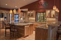The Awesome Rustic Kitchen Design Pictures Best Ideas Home Design gallery Ideas For Your Home And Free Rustic Kitchen Design, Luxury Kitchen Design, Luxury Kitchens, Kitchen Decor, Kitchen Ideas, Country Kitchen, Kitchen Designs, Red Wall Kitchen, Kitchen Cost