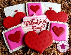 First Class Cookies ( Valentines Day Cookies, Happy Valentines Day, Fun Cookies, Sugar Cookies, I Hope You, Cookie Decorating, Joy, Videos, Photos