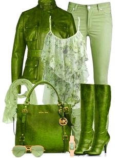 Green shop this look