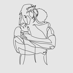 Single line sketch, romantic drawing, line art, tattoo potential of couple Outline Drawings, Art Drawings, Romantic Drawing, Art Minimaliste, Cute Couple Tattoos, Line Sketch, Couple Drawings, Arte Pop, Minimalist Art