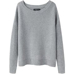 Rag & Bone Adrienne Sweater ($145) ❤ liked on Polyvore featuring tops, sweaters, jumpers, long sleeved, long sleeve tops, gray sweater, grey pullover, sweater pullover and long sleeve pullover