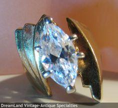marque shape stone ring - MAKE $ OFFER DreamLandSpecialties@comcast.net