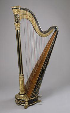 Pedal harp, 1891–95  Lyon  Healy, Chicago  Wood, metal