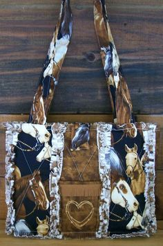 d82af6b62e Country Western Horse Purse Handbag by Stitchesbysteph on Etsy Types Of  Handbags