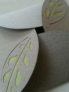 Grey. Leaf. Green #card