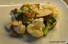 DSC_0346 Cauliflower, Meat, Chicken, Vegetables, Food, Cauliflowers, Veggies, Vegetable Recipes, Meals