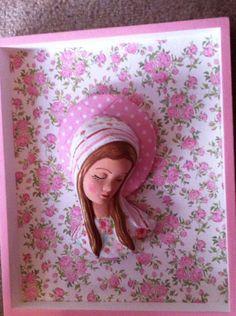 linda Virgen en Decoupage para Baby shower, primera comunion bautizo  a pedido