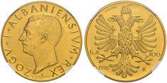 Albania/ Kingdom  100 Franga 1928 Rome Mint Zogu I 1928-38
