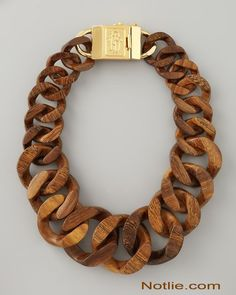 (6) Fancy - wooden chain necklace womens ($1.00) - Svpply