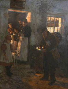 """The Letter"" c.1898 oil -  Stanhope Alexander Forbes (1857–1947)"