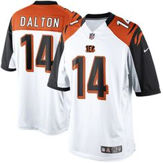 nike andy dalton cincinnati bengals limited jersey white