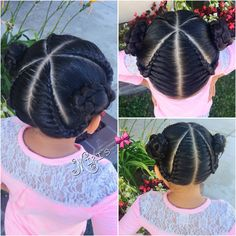 Braids hair style for little girls