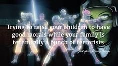 Trying to raise your children to have morals when your family is technically a bunch of terrorists {Just Space Family Things}