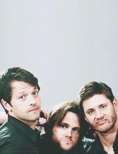Misha Collins, Jared Padalecki, Jensen Ackles // their bromance is my favv :))