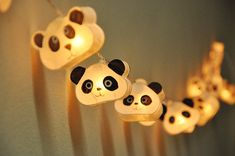 Cutie Panda mulberry paper Lanterns for wedding party by ginew, $15.50