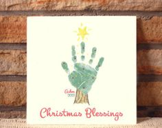 Your child's actual footprints footprint art by MyForeverPrints Hand Christmas Tree, Handprint Christmas Tree, Kids Christmas, Tree Handprint, Hand Print Christmas Cards, Merry Christmas, Christmas Crafts For Toddlers, Preschool Christmas, Xmas Crafts