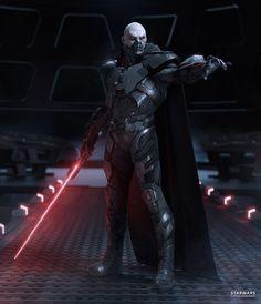 DARTH MALGUS_REIMAGENED on Behance Sith Armor, Jedi Sith, Star Wars Saga, Star Wars Darth, Darth Vader, Starwars, Sith Lightsaber, Star Wars The Old, Star Wars Bilder