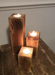 Pallet Candle Holders - Easy to Make | Pallet Furniture DIY