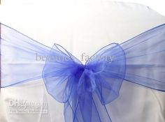 Wholesale Sashes Chair - Buy Royal Blue Organza Sashes Chair Cover Bow Wedding Party Banquet Sash High Quality, $0.72   DHgate