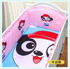 Promotion! 5PCS crib bedding piece set outerwear baby bedding bed around,(4bumpers+sheet)