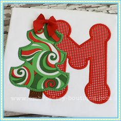 Christmas Tree Applique Alphabet-Main pic HAVE-Embroidery Boutique