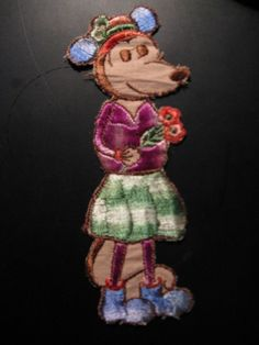 Old fabrics emblem of silk of Minnie Mouse...comes from the 30s...