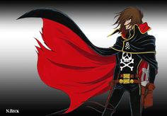 Captain Harlock's cape is awesome