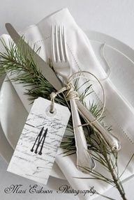 winter wedding escort cards | lovely winter table setting with the place card - winter wedding ...