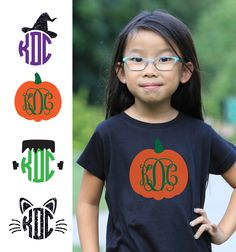 Check out all of these super cute Halloween Monogram t-shirts available at…