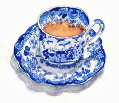 Grandmothers Tea Cup #teacup #watercolour