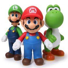 New Nintendo Super Mario Bros Luigi Mario Action Figures Toys Gift Mario Yoshi, Super Mario Bros Luigi, Mario Und Luigi, Mario Bros., Mario Party, Mario Cake, Super Mario Brothers, Goku Super Saiyan God, Mario Bros