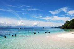 Sapi Island off Kota Kinabalu in Sabah Borneo. This island is only a 15 minute boat ride from KK town and a great place to dive and chill out if you have no time in Sabah.