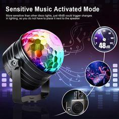 OMERIL Discolicht Musikgesteuert Disco Lichteffekte RGB Partylicht, Zeitgesteuertes USB Stimmungslicht mit 7 Farben, 4 Helligkeiten... Disco Licht, Led, Lights, Remote, Household, Musik, Advertising, Colors, Lighting