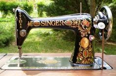 """This is the sewing machine I bought, so beautiful- 1922 Singer """"Red Eye"""" Treadle- Model #66"""