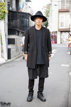 Layered Black Fashion w/ Resale Items, Hat & Nike Sneakers in Harajuku
