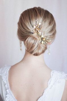 Bridal Hair Pins Bridal Headpiece Large Floral Hair Pins Hair Adornments for Bride Floral Flower Hair PIece Set of Two