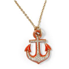 Juicy Couture Knots & Anchors Anchor Necklace ($48) ❤ liked on Polyvore