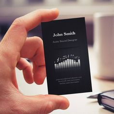Acoustic Audio Sound Designer Engineer Director Business Card Templates