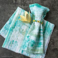 Hand Painted Linen Napkins