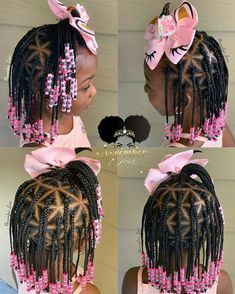 A selection of 50 kids braids with beads hairstyles to get your kids holiday ready. From kids braided updos with beads, to single braids with beads. Toddler Braided Hairstyles, Black Kids Hairstyles, Baby Girl Hairstyles, Box Braids Hairstyles, Glam Hairstyles, Little Girl Braid Hairstyles, Ladies Hairstyles, Wedding Hairstyles, Kids Braids With Beads