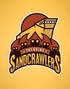 Star Wars Sports Team Logos /// Tatooine SandCrawlers /// by WanderingBert / David Creighton-Pester (via Droides Star Wars, Star Wars Fan Art, Game Design, 2d Design, Graphic Design, Posters Geek, Sports Team Logos, Sports Teams, Rugby Teams