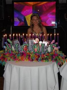 Candy Land Themed Sweet 16 Candelabras