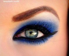 eyeshadow - who says blue eyeshadow is out of style?