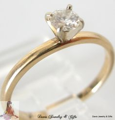 arcadia wedding band. natural diamond ring solid 14k yellow gold engagement 1/4 ctw solitaire size 8 | arcadia wedding band s