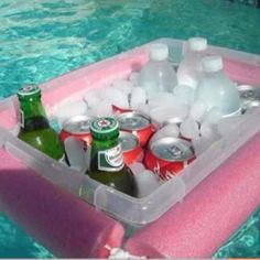 How to make a floating cooler via @Guidecentral - Visit www.guidecentr.al for more #DIY #tutorials