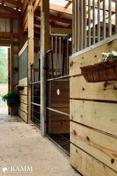 Horse Stalls Built to Your Taste - Art Of Equitation Barn Stalls, Horse Stalls, Horse Barn Designs, Horse Barn Plans, Horse Ranch, Farm Barn, Dream Barn, Horse Farms, The Ranch